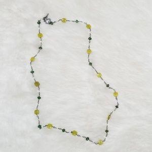 Silpada Canadian Olive Green Jade necklace